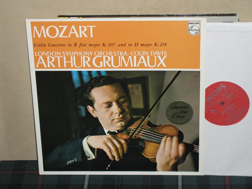 Grumiaux/Davis/LSO - Mozart Violin Ctos in B/D Philips Import 835 AY