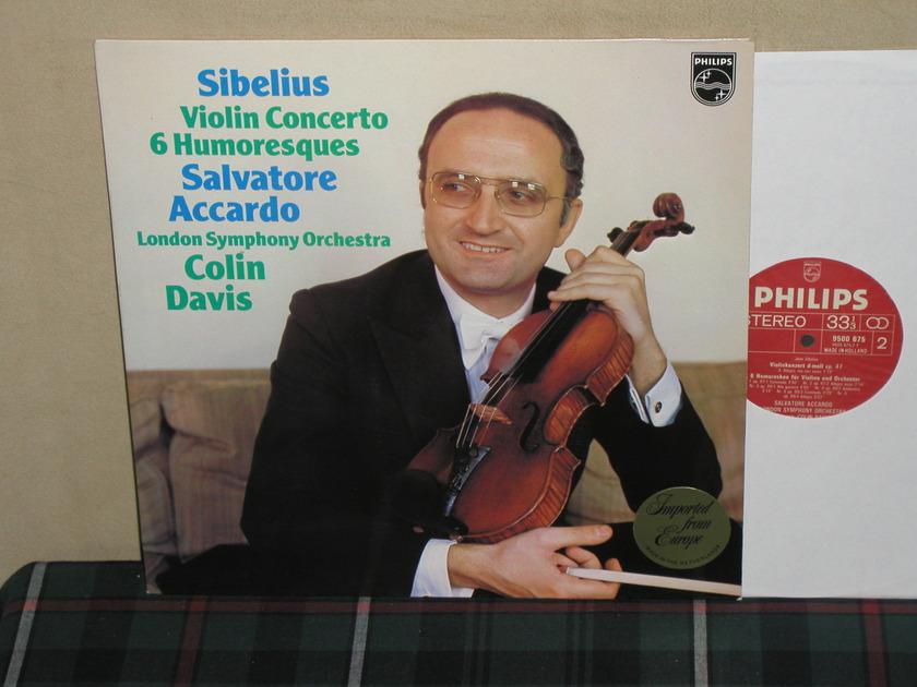 Accardo/Davis/LSO - Sibelius Violin Cto. Six Humoresques Philips Import LP 9500