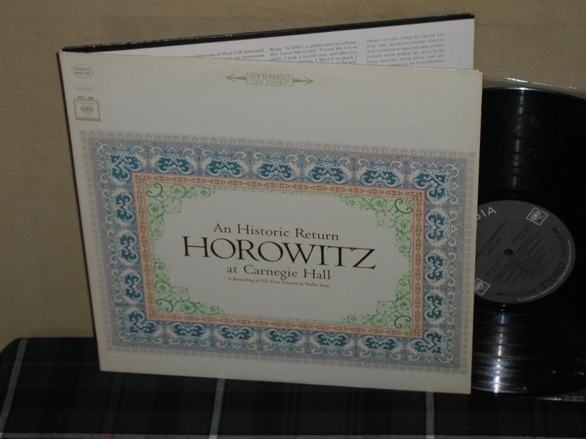 Vladimir Horowitz - An Historic Return STEREO Columbia Black 360 w/arrows