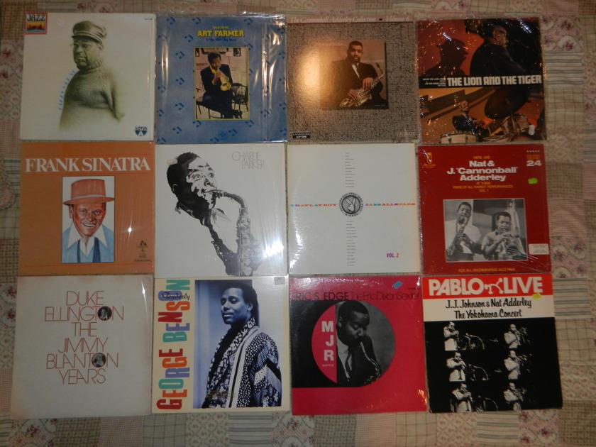 14 LPs Jazz LP lot Gillespie Farmer Sinatra - Parker Duke Ellington Adderley Leon Smith George Benson Eric Edge Playboy Jazz RARE [8/10 and higher]