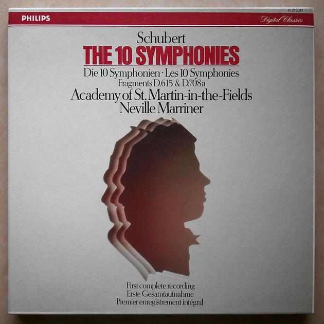 PHILIPS Digital   MARRINER/SCHUBERT - The 10 Symphonies / 7-LP / NM