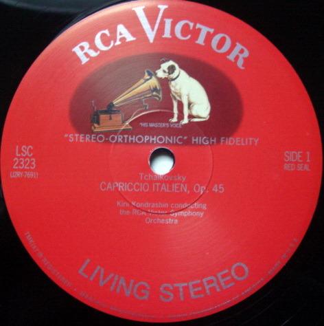 ★Audiophile 180g★ RCA-Classic Records /  - KONDRASHIN, Tchaikovsky Capriccio Italien, MINT(OOP)!