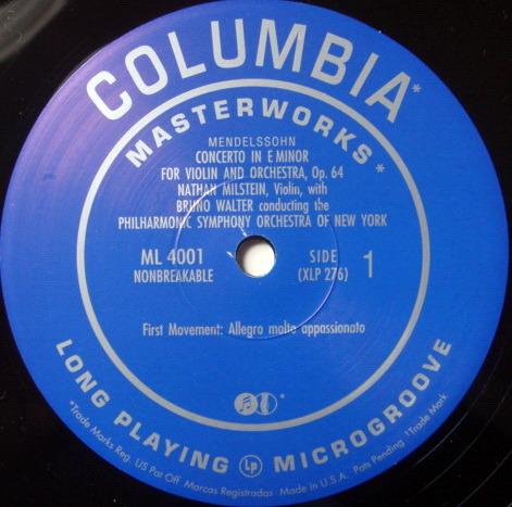 ★Audiophile 180g★ Columbia-Classic Records / MILSTEIN-WALTER, - Mendelssohn Violin Concerto, MINT(OOP)!