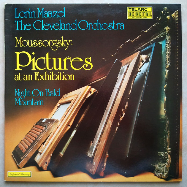 Audiophile TELARC | MAAZEL/MOUSSORGSKY - Pictures At An Exhibition, Night On Bald Mountain / NM