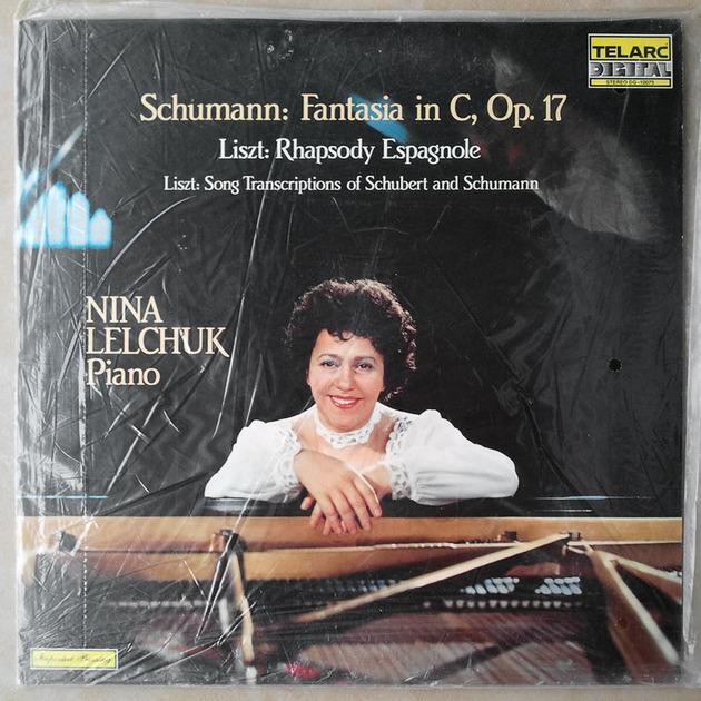 SEALED Audiophile TELARC | LELCHUK/SCHUMANN - Fantasia in C Op.17/LISZT Rhapsody Espagnole, Song Transcriptions of Schubert and Schumann