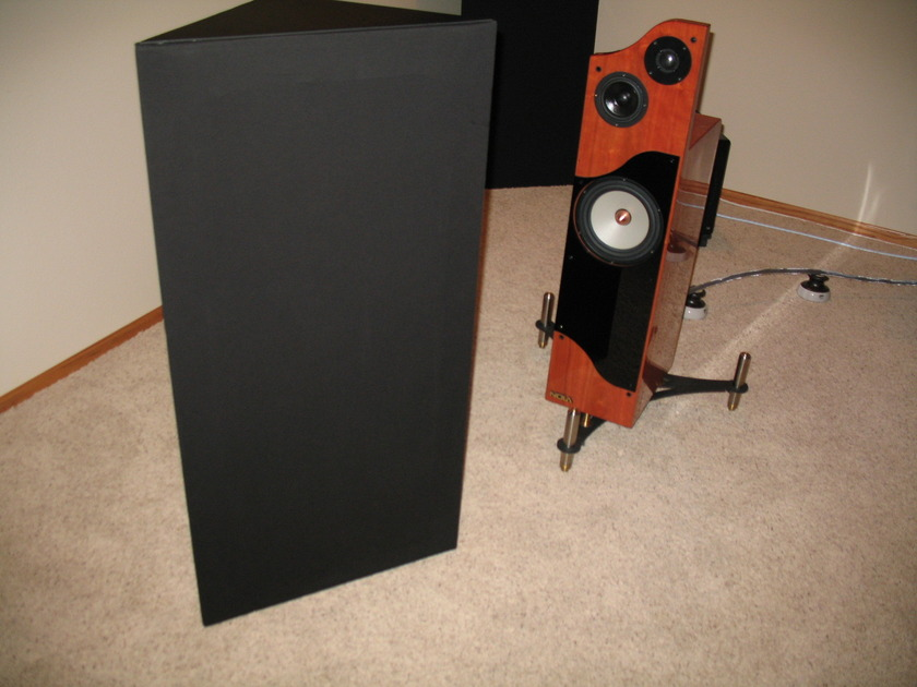 GIK Acoustic Panels 5- 242's and 1 Tri Bass Trap Black & Coffe/brown