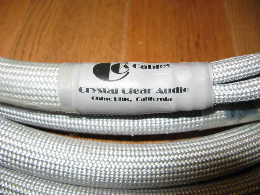 Crystal Clear Audio Master Class Speaker Cables 8 Foot Bi-wires with WBT spades