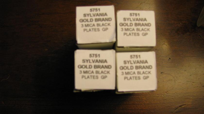 Sylvania 5751 Gold Brand 3-Mica Black Plates