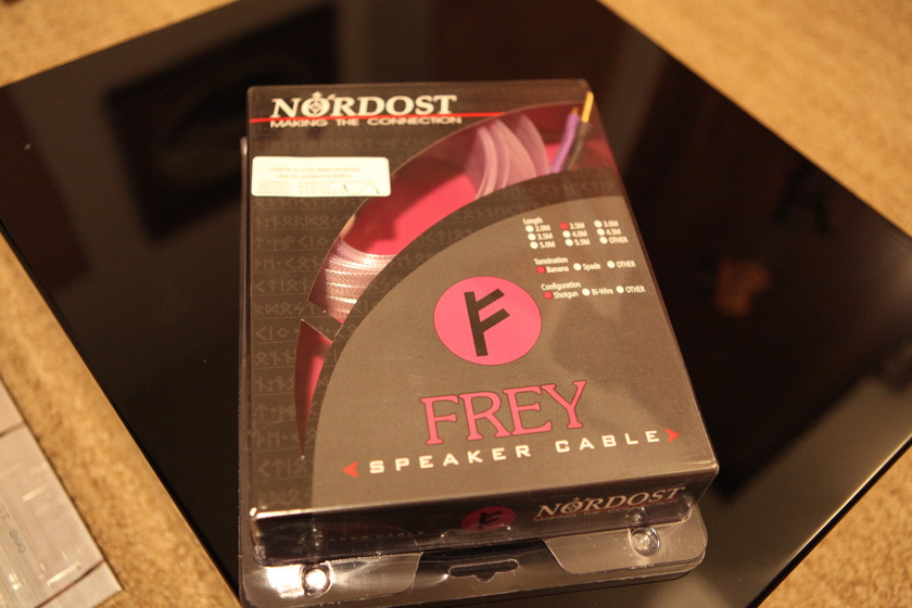 Nordost Frey  2.5 meter speaker cable as new