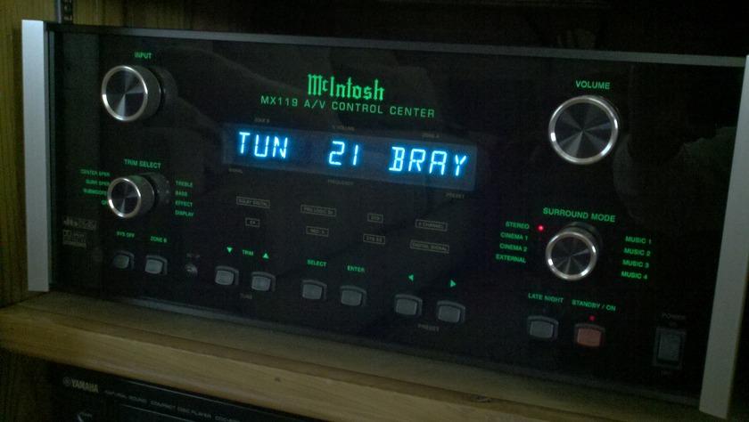 McIntosh MX-119 Preamp Processor with TM-1 Tuner