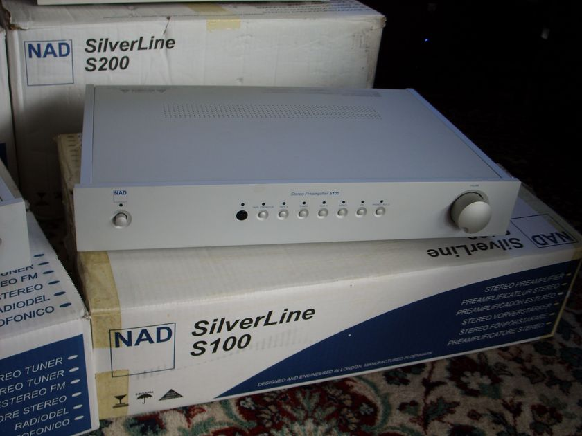 NAD S100 Silver Series Preamp with phono installed