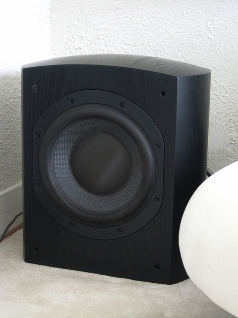 B&W AWS 825 Powered Subwoofer - Black Ash