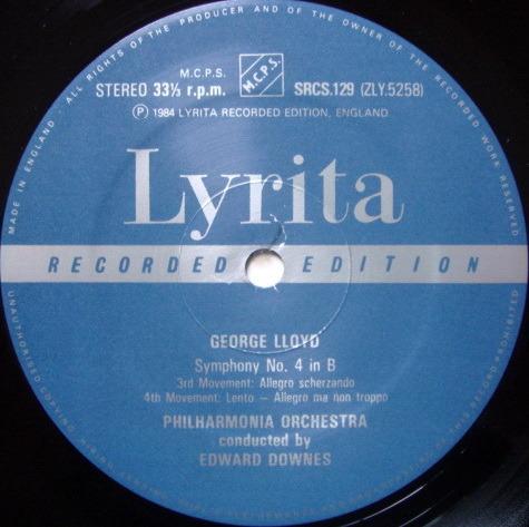 ★Audiophile★ Lyrita-Decca / DOWNES, - Lloyd Symphony No.4, MINT!