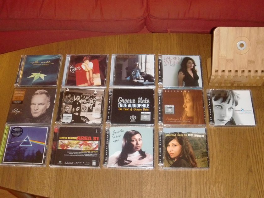 Sacd Audiophile Rare - 13 disc collection combo sale/incl.shipping!