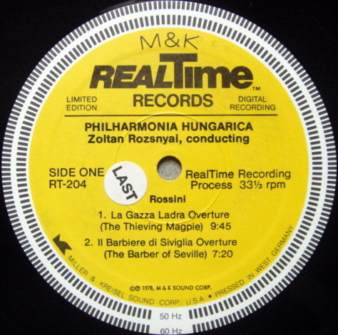 ★Audiophile★ M&K RealTime / ROZSNYAI, - Rossini Overtures, MINT!