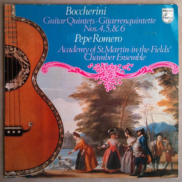 PHILIPS   ROMERO/BOCCHERINI - Guitar Quintets Nos. 4, 5, 6 / NM