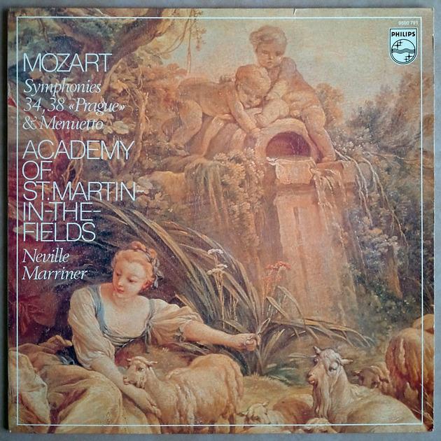 PHILIPS | MARRINER/MOZART - Symphonies Nos. 34, 38 & Menuetto / NM