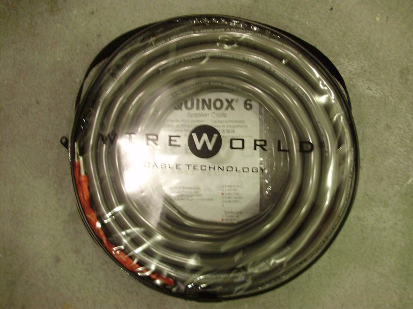 WireWorld Equinox 6 Speaker Cable  WireWorld Equinox 6 Speaker Cable  single For center Channel,Mint