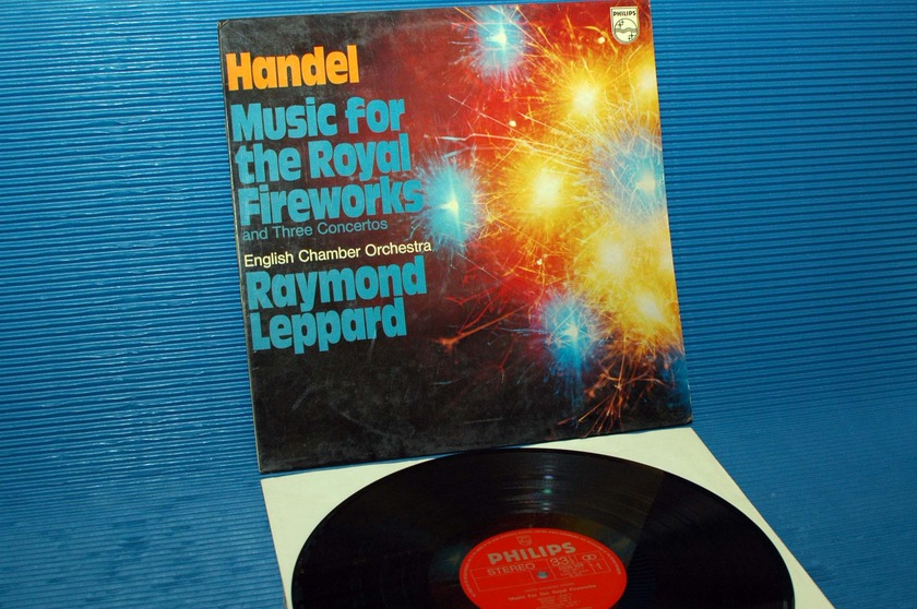 """HANDEL/Leppard - - """"Music for the Royal Fireworks"""" -  Philips Italy 1978 1st pressing"""