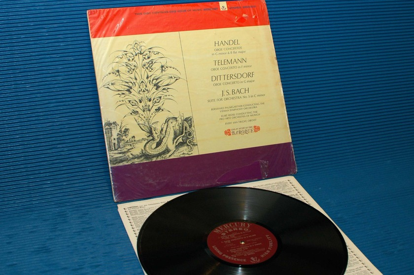 """BACH/HANDEL -  - """"Great Music Of The Baroque"""" -  Mercury Living Presence1965 1st pressing"""