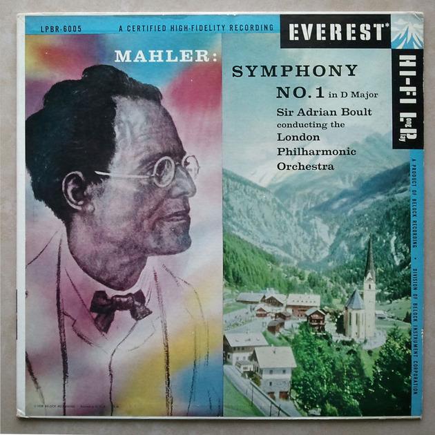 EVEREST   BOULT/MAHLER - Symphony No. 1 / NM