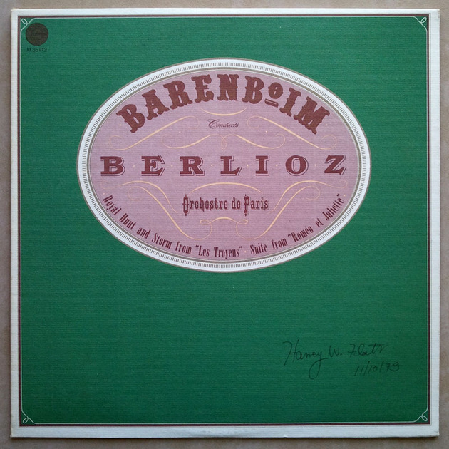COLUMBIA | BARENBOIM/BERLIOZ - Royal Hunt & Storm from Les Troyens, Suite from Romeo & Juliet  / EX