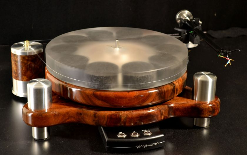 "George Warren Hardwood Turntable ""Stereo Times Most Wanted Component"""