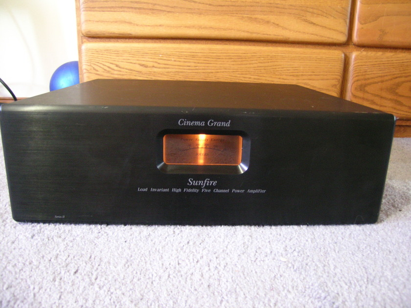"19"" Sunfire Cinema Grand Signature Series II 425 x 5 Amplifier Serviced Re-Capped Works Perfect"