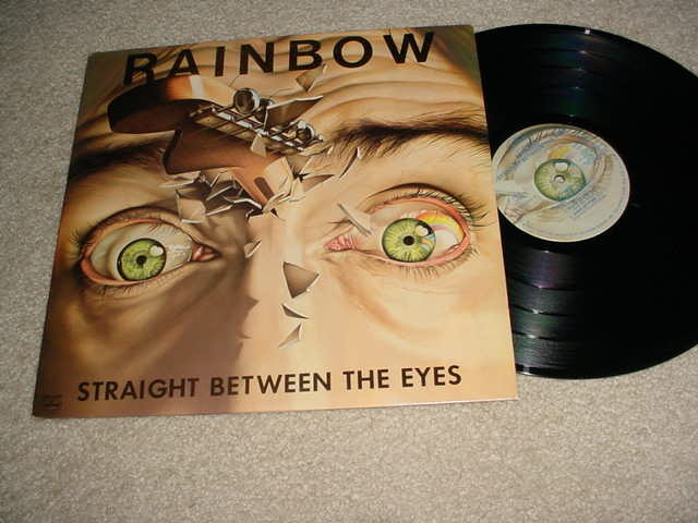 RAINBOW  - STRAIGHT BETWEEN THE EYES LP RECORD