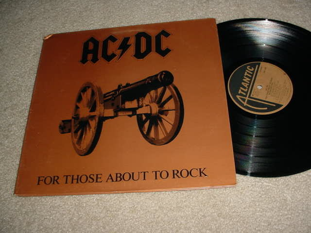 ACDC AC/DC - FOR THOSE ABOUT TO ROCK  LP RECORD