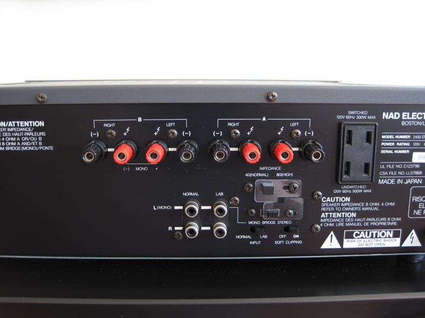 NAD 2400 Stereo Amplifier