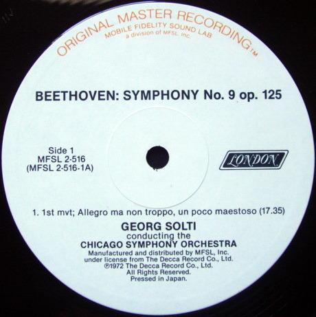 ★Audiophile★ MFSL / SOLTI, - Beethoven Symphony No.9 Chorale, NM, 2 LP Set!