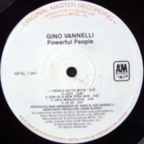 ★Audiophile★ MFSL / GINO VANNELLI, - Powerful People, NM!