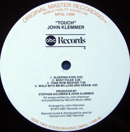 ★Audiophile★ MFSL / JOHN KLEMMER, - Touch, NM!