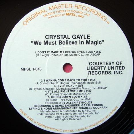 ★Audiophile★ MFSL / CRYSTAL GAYLE, - We Must Believe in Magic, NM-!