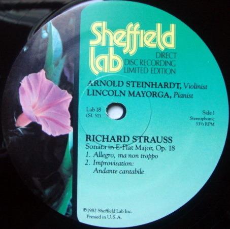 ★Audiophile★ Sheffield Lab / MAYORGA-STEINHARDT, - R Strauss Violin Sonata, NM!