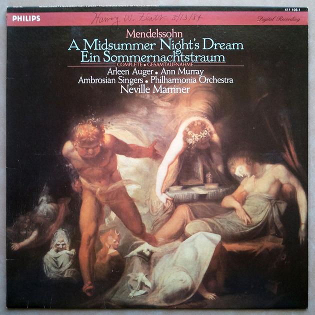 PHILIPS Digital   MARRINER/MENDELSSOHN - A Midsummer Night's Dream / NM