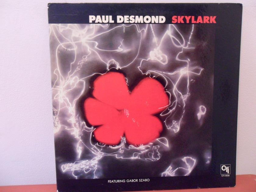 PAUL DESMOND - SKYLARK; WITH GABOR SZABO CTI LABEL; MINT MINUS