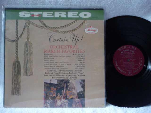 Curtain UP  - Orchestral March Favorites Mercruy LP