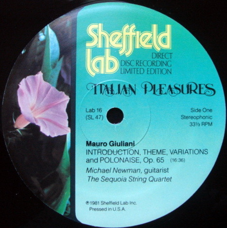 ★Audiophile★ Sheffield Lab / NEWMAN, - Italian Pleasure, MINT!