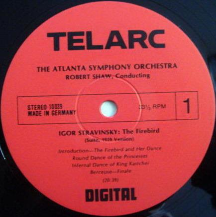 ★Audiophile★ Telarc / SHAW, - Stravinsky Firebird, TAS SUPER DISC, MINT!