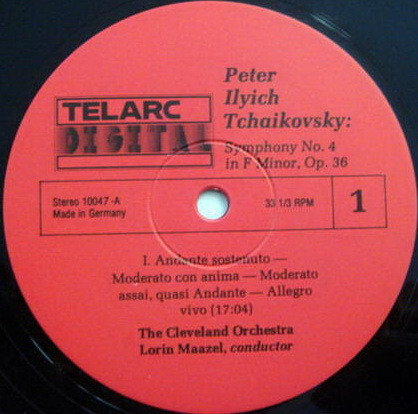 ★Audiophile★ Telarc / MAAZEL, - Tchaikovsky Sym. No 4, MINT!