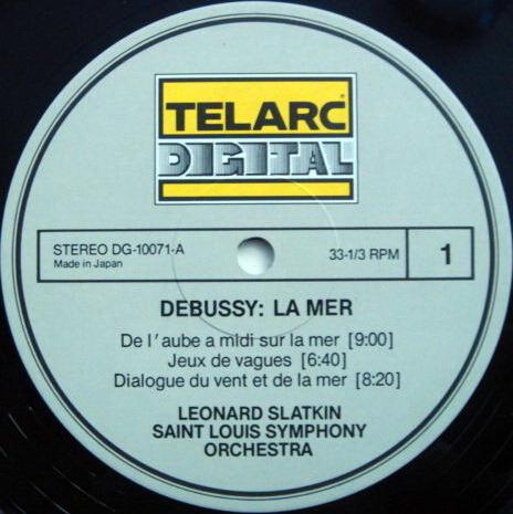 ★Audiophile★ Telarc / SLATKIN, - Debussy La Mer (The Sea), MINT!