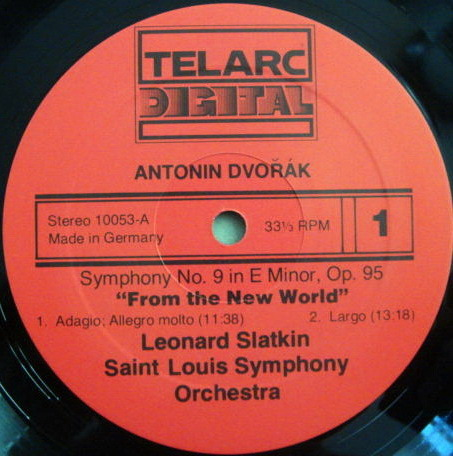 ★Audiophile★ Telarc / SLATKIN, - Dvorak Symphony No. 9 New World, EX!