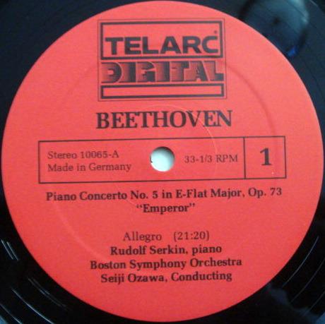 ★Audiophile★ Telarc / SERKIN-OZAWA, - Beethoven Piano concerto No.5, MINT!