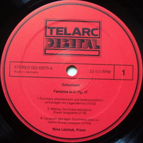 ★Audiophile★ Telarc / NINA LELCHUK, - Schumann Fantasia in C,  MINT!