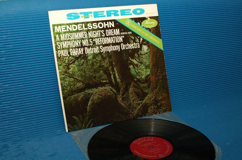 """MENDELSSOHN/Paray - - """"A Midsummer Night's Dream"""" -  Mercury Living Presence 196? early pressing"""