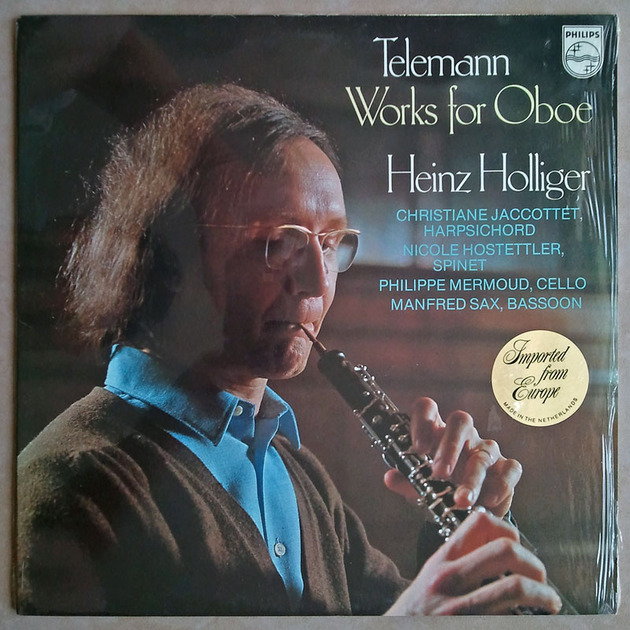 PHILIPS | HOLLIGER/TELEMANN - Works of Oboe / NM