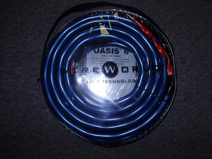 WireWorld  Oasis 6 Speaker Cable 3M pair for mains and 2M single For center Channel,Mint,