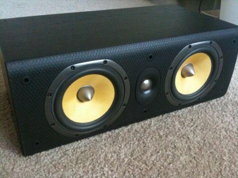 B&W LCR600 S3 center,left,right speaker-black